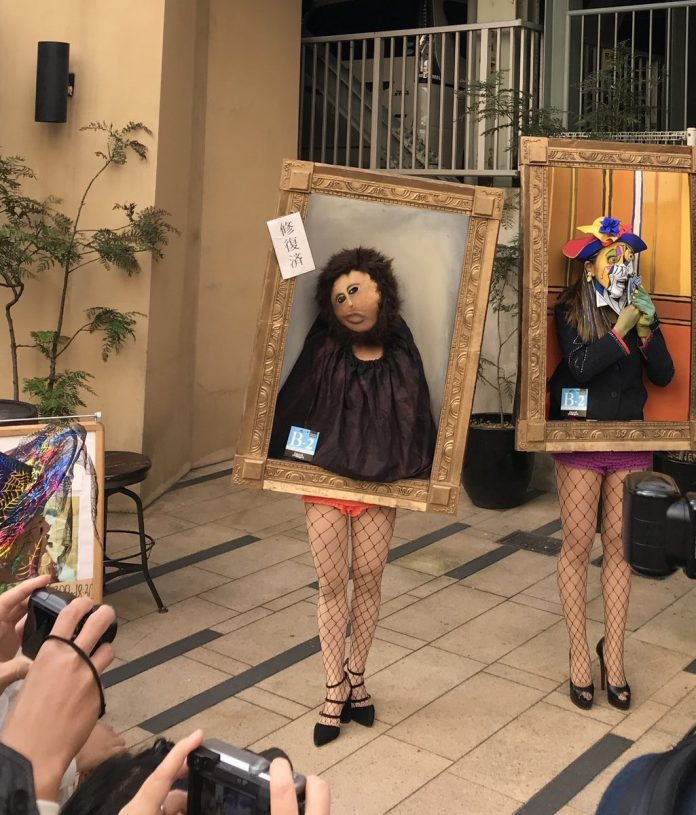 Living paintings by Japaneese art history students